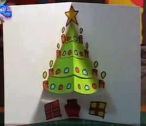 tarjeta arbol navideño