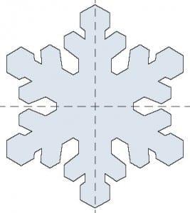 esquema de cristal de copo de nieve