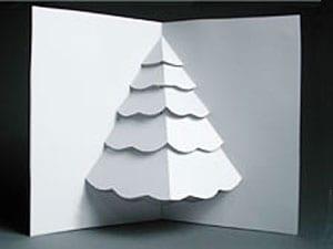 tarjeta de navidad de árbol