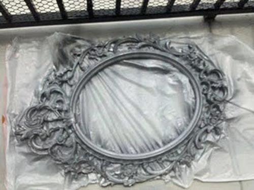 Como elaborar un espejo vintage para tu sal n for Espejo vintage plateado