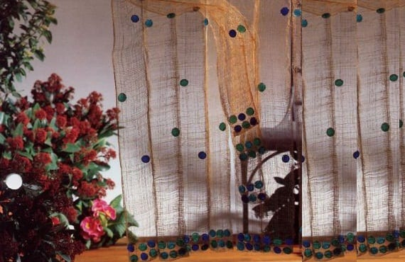 Una cortina de yute original
