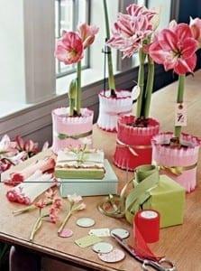 flores en papel crepé