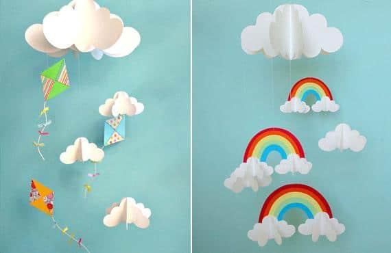 Móviles de papel para niños