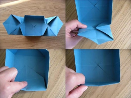 Cajitas de papel doblado