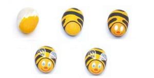 Cómo dibujar una abeja sobre una piedra para souvenir