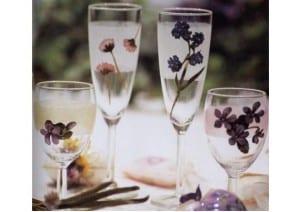 Manualidades en decoupage: vasos para comer al aire libre