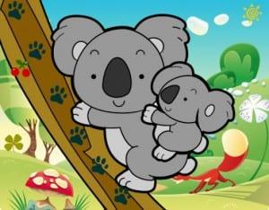 Dibuja un koala australiano