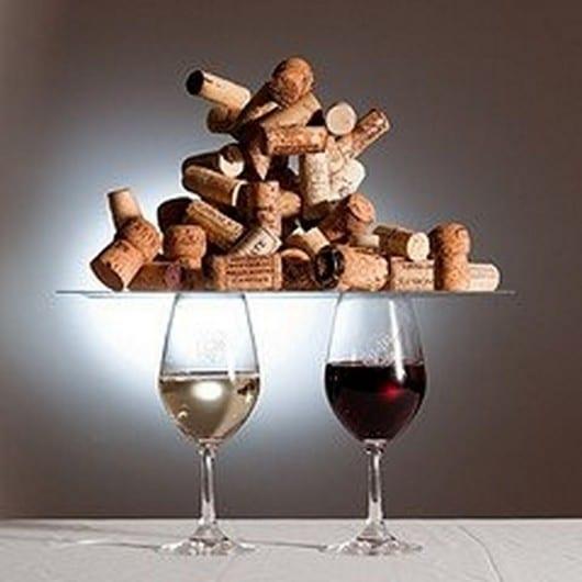 Utiliza los tapones de corcho de vino