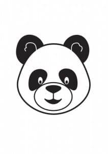 Crea tu propia máscara de oso panda