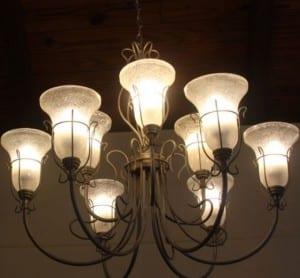 Lámpara con cristales opacos