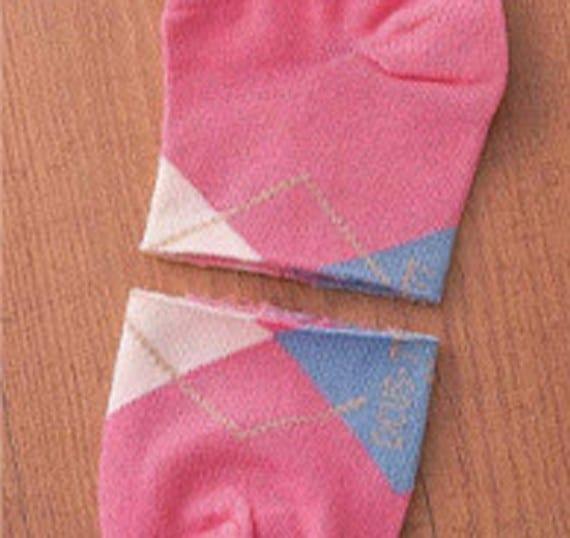 Gatito de peluche hecho con calcetines