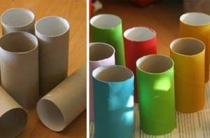 Coches con rollos de papel