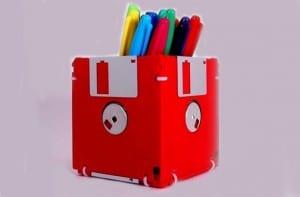 Lapicero con disquetes