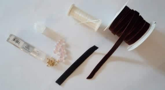 Materiales para hacer el DIY diadema