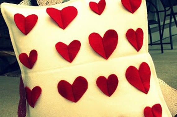 Cojín corazones