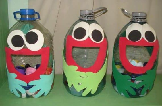 Botellas de plástico divertidas