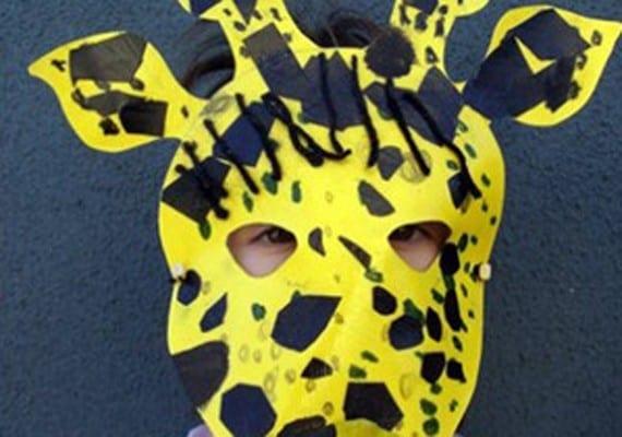 careta de jirafa de Carnaval