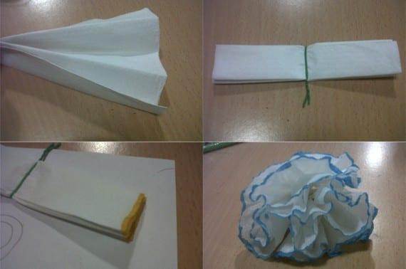 Rosas de papel para San Valentín