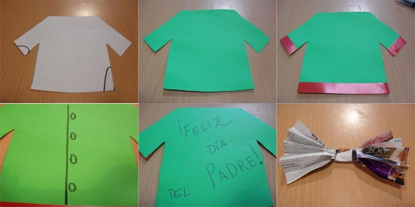 Tarjeta-camisa para el día del padre