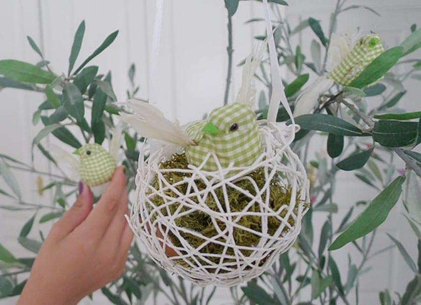 Decoracin para el hogar nidos de pjaros