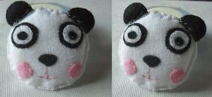 Broche de oso panda