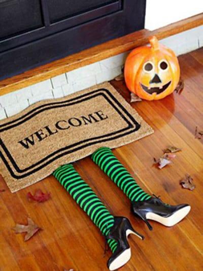 Decoración entrada para Halloween
