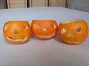 Calabazas terroríficas con mandarinas