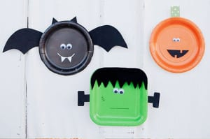 Platos decorados para halloween