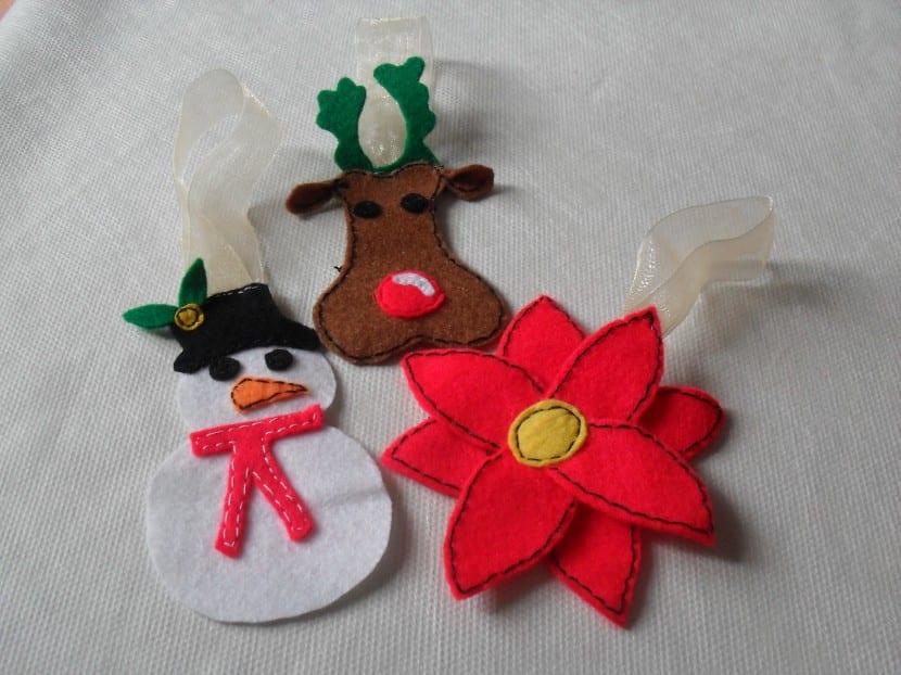 Navidad adornos para el rbol con fieltro - Adornos navidenos para arbol de navidad ...