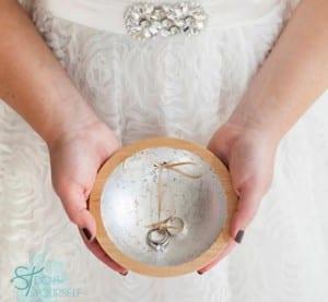 Cuenco para anillos de boda