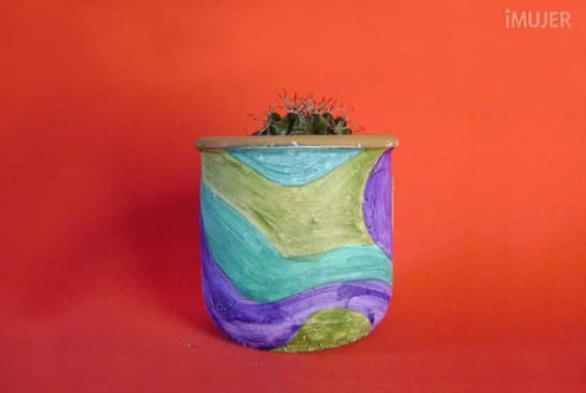 Decoración de macetas con pintura