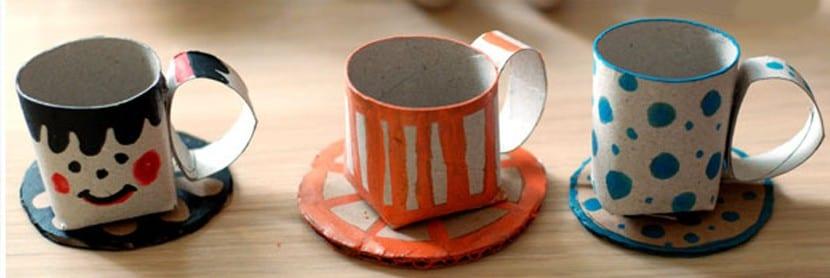 Tazas de té para niño con cartón