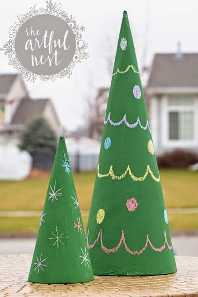 Árbol de Navidad en pizarra