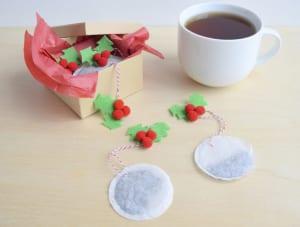 Bolsitas de té navideñas