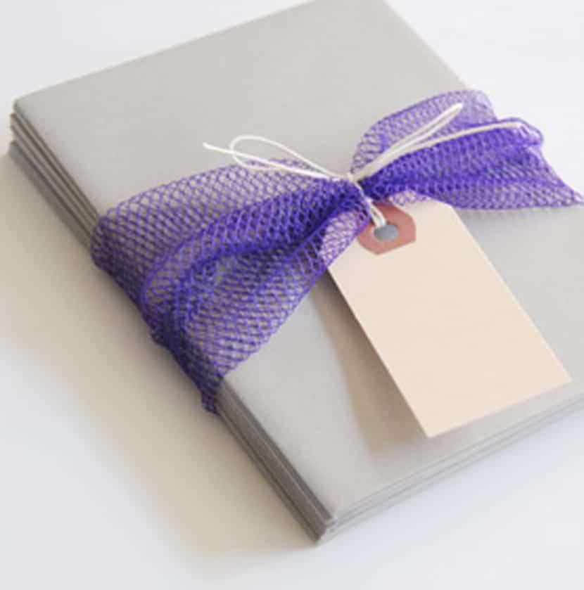 Envoltorios ajos y cebollas para regalos