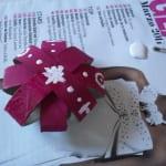 Estrella de cartón con rollo de papel