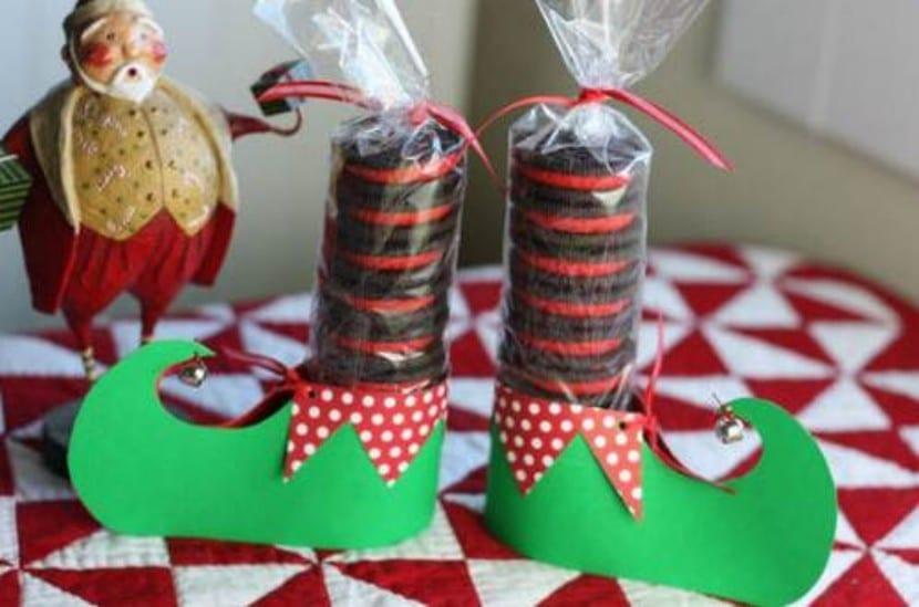 Regalo de Navidad con galletas