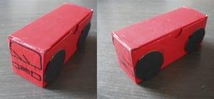 Cochecitos con cajitas de cartón