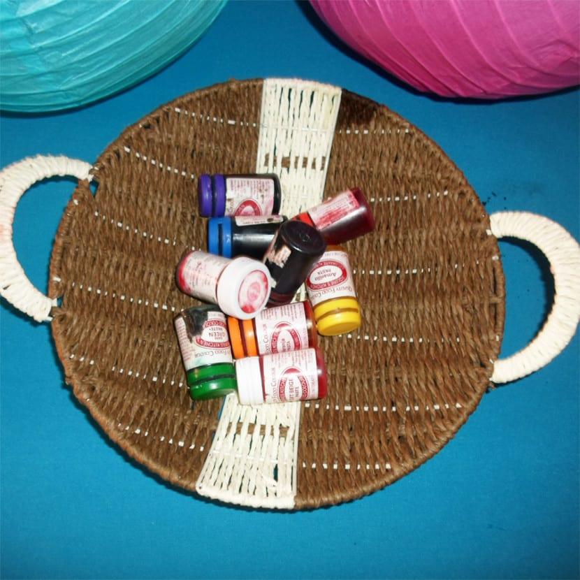 Colorantes necesarios para teñir legumbres