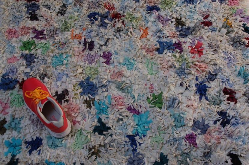 alfombra de tiras