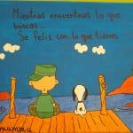 Lienzo pintado a mano personalizado con Snoopy
