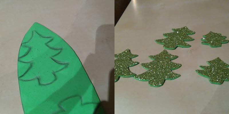 Árboles de Navidad hechos imán de nevera