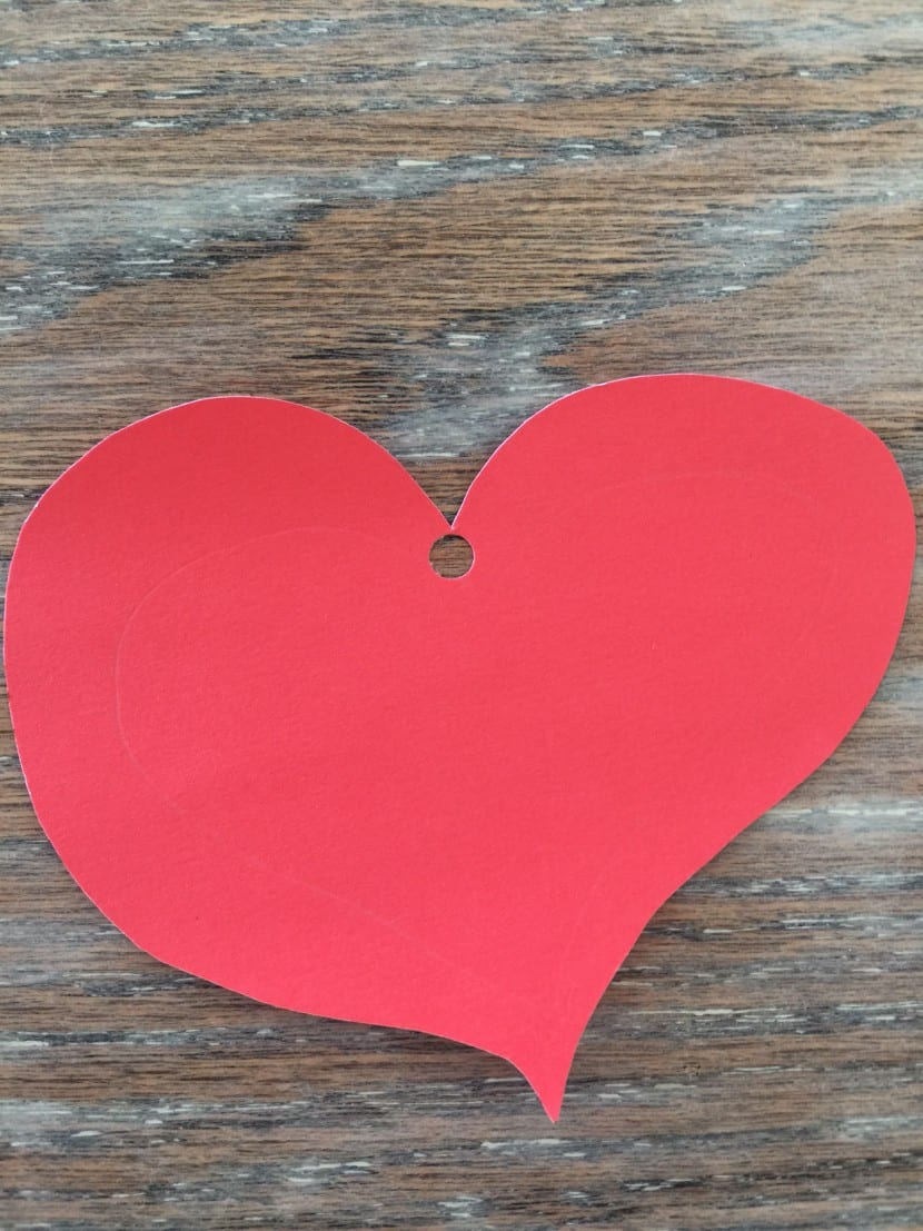 Corazón cartulina