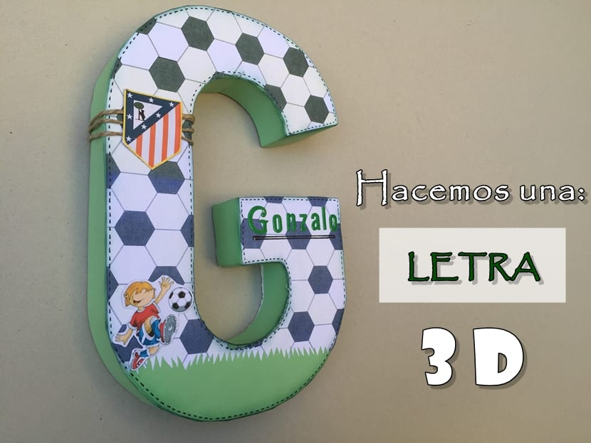 Letra 3d for Letras de corcho decoradas
