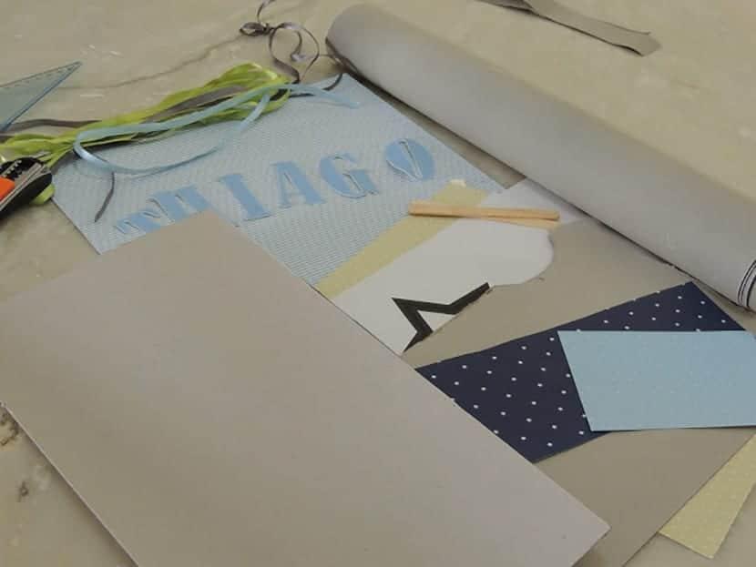 Materiales para hacer cartelito dormitorio