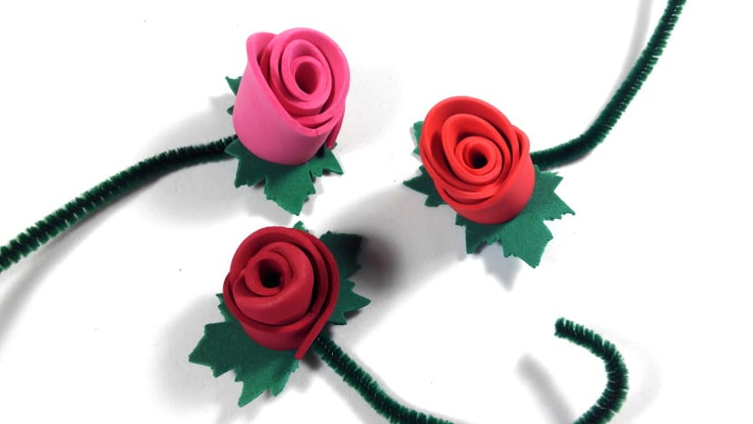rosas de goma eva o foamy