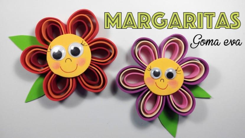 DIY Flores de goma eva una manualidad muy fcil y bonita