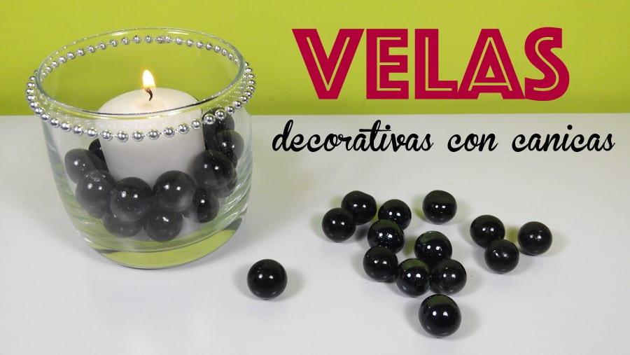 velas decorativas canicas