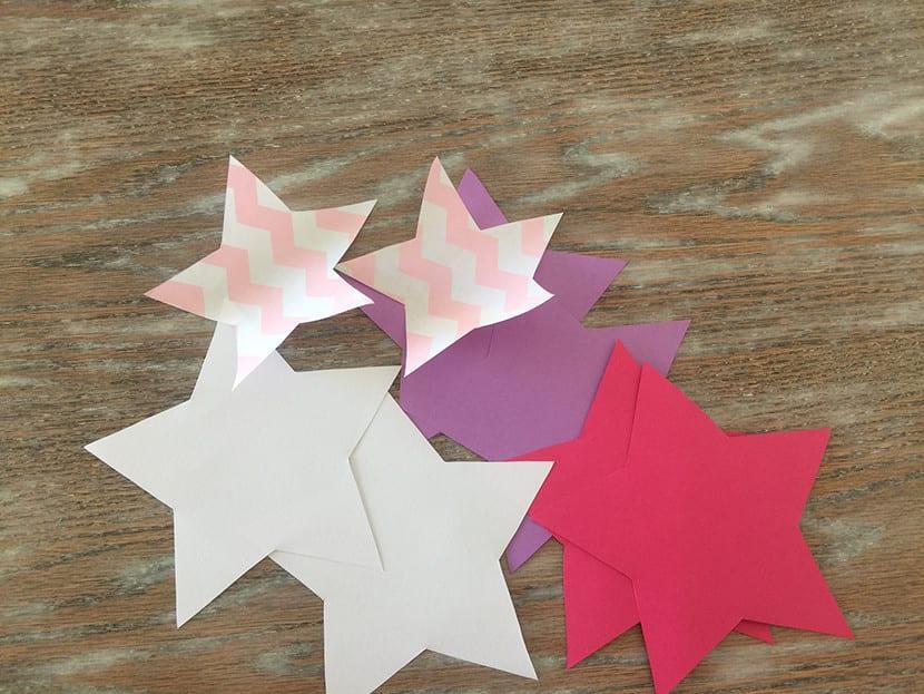 Guirnalda de estrellas paso 1