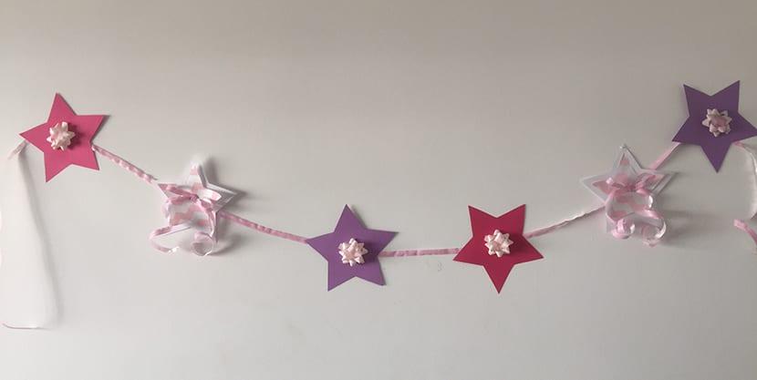 como hacer una guirnalda de estrellas - Hacer Guirnaldas
